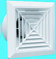 Вентилятор потолочный d100 Hardi квадратный