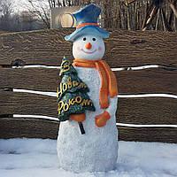 """Снеговик с елкой """"С новым годом"""" 50см, фото 1"""
