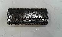 Клатч красивый черно-серебристый нарядный (Турция).