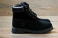 Зимние ботинки Timberland Classic 6 inch black с мехом, теплые (тимберленд ботинки)