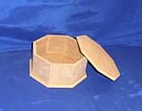 Шкатулка 8-ми гранная 17.5/19х8.5 см МДФ заготовка для декора, фото 2