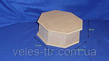 Шкатулка 8-ми гранная 21.5/23х8.5 см МДФ заготовка для декора