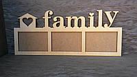 Рамочки для фотографий. Именные фоторамки Family 3 фото