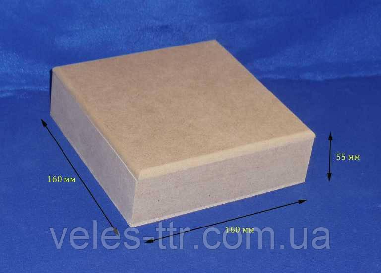 Шкатулка без петель квадратнаяя 16х16х5,5 см мдф заготовка для декора №30