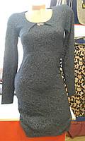 """Платье женское с длинным рукавом """"Темно-синяя классика"""""""