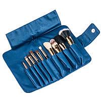 Набор натуральных кистей Megaga Professional ,синий, 10шт