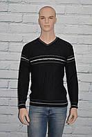 Тонкий мужской свитер черный Comeor 2595 размер М, L Турция