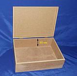 Шкатулка Сундук 32х23.5х11 см МДФ заготовка для декора, фото 2