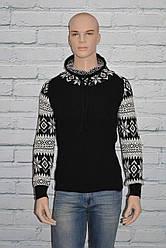 Черный свитер мужской зимний размер S/M, L/XL Riva 4048 Турция