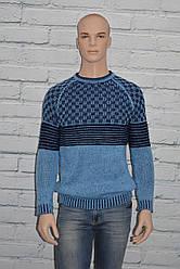 Голубой свитер мужской зимний размер S/M, L/XL Riva 6018 Турция