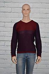 Свитер мужской деми бордо/зеленый размер S/M, L/XL Riva 6016 Турция