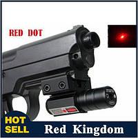 Лазерный цеуказатель ЛЦУ, красный лазер, компактный, крепление Вивера/ласточкин хвост, прицелы на оружие, фото 1