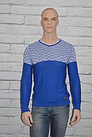 Тонкий мужской свитер синий 1107 размер S/М, L/XL Fittz 1107 Турция