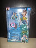 Детская кукла Frozen  Анна ,  с волшебным трюмо , свет , музыка