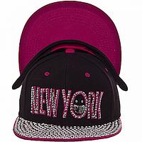 Бейсболка с козырьком розовая New York