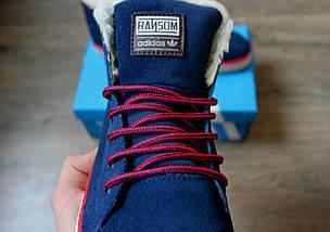 Зимние кроссовки в стиле Adidas Ransom Fur с мехом, фото 3