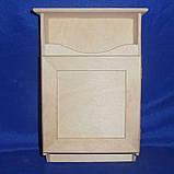 Ключница с дверкой и полочкой 20х30х8.5 см фанера заготовка для декора, фото 2