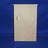 Ключница с дверкой и полочкой 20х30х8.5 см фанера заготовка для декора, фото 4