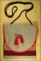 Сумка в етно стилі сіра