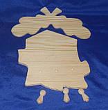 Ключница - вешалка Дубок с гвоздиками 22х23 см Дерево заготовка для декора, фото 2