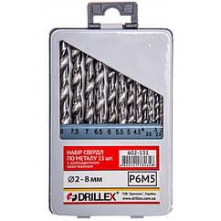Набор сверл по металлу Р6М5 13шт. 2,0-8,0мм  НСВ1308