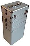 Большой косметический чемодан 4-ох секционный, фото 2
