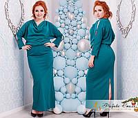 Платье в пол большого размера декорировано камнями