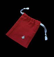 Мешочек атласный красного цвета (10,5х13,5 см), упаковка 5 шт