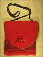 Сумка в етно стилі червона