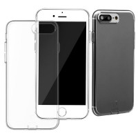 Защитный чехол Baseus simple series  transparent/black для iPhone 7 plus 8 plus