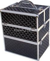 Косметический кейс NS06 Black 3D  35 x 25 x 40 cм