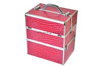 Косметический кейс NS06 pink crocodile  35 x 25 x 40 cм