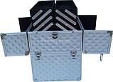 Косметический кейс NS06 silver 3D  35 x 25 x 40 cм, фото 2