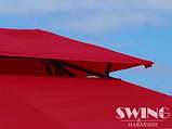 Павильон Swing & harmonie 3 х 4 м красный с LED подсветкой от солнечной батареи, фото 4