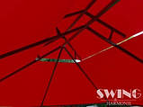 Павильон Swing & harmonie 3 х 4 м красный с LED подсветкой от солнечной батареи, фото 5