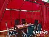 Павильон Swing & harmonie 3 х 4 м красный с LED подсветкой от солнечной батареи, фото 9
