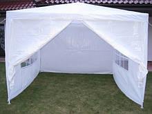 Палатка садовый павильон 3 х 3 + 4 стены Белый