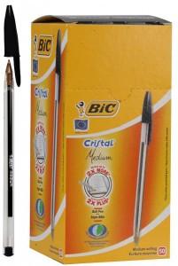 """Ручка шариковая """"BIC"""" Cristal черная"""