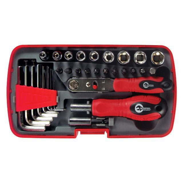 Отвертка с набором инструмента INTERTOOL VT-1035