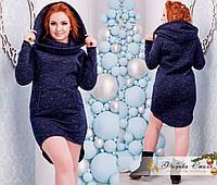 Стильное платье с удлиненной задней частью большого размера