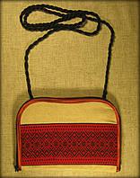 "Сумочка (клач) в етно стилі на замочку ""червона вишиванка"""