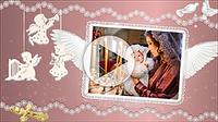 Шаблоны для слайд-шоу «Крещение ребенка»