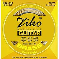 Ziko ZIKO DCZ Струны для акустической гитары бронза ZIKO DCZ-010 Струны для акустической гитары бронза 10/47