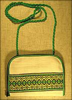 "Сумочка (клач) в етно стилі на замочку ""зелена вишиванка"""