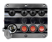 Панель на 3 переключателя + прикуриватель