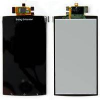 Дисплей для мобильных телефонов Sony Ericsson LT15i, LT18i, X12, черный, с сенсорным экраном