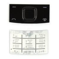 Клавиатура для мобильного телефона Nokia X3-00, серебристая, верхняя, нижняя, русская