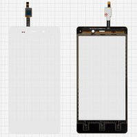Сенсорный экран для мобильного телефона Fly IQ453, белый, #1224TCM43E59V2.0 5415K FPC-1