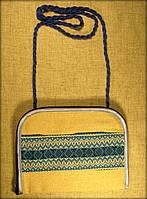 "Сумочка (клач) в етно стилі на замочку ""синя вишиванка"""