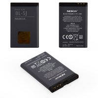 Аккумулятор BL-5J для мобильных телефонов Nokia 200 Asha, 201 Asha, 302 Asha, 520 Lumia, 5228, 5230, 5233, 5235, 525 Lumia, 5800, C3-00, N900, X1-00,